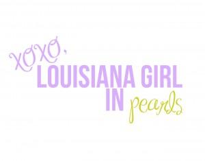 xoxo, louisiana girl in pearls